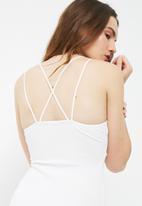 Missguided - Crepe plunge mini dress