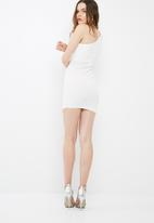 Missguided - One shoulder exaggerated ruched bodycon dress