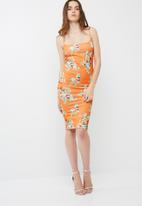 Missguided - Strappy printed midi dress