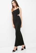 Missguided - Cut out waist one shoulder maxi dress