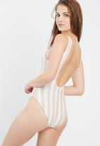 Missguided - Tequila trippin' stripe swimsuit
