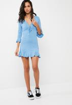 Missguided - Polka dot jersey tea dress