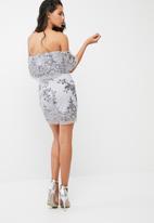 Missguided - Sequin bardot dress