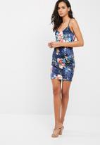 Missguided - Floral velvet cami mini dress