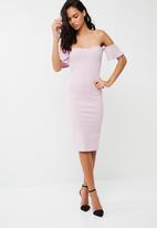 Missguided - Bardot bodycon midi dress