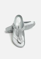 Birkenstock - Gizeh EVA wider fit - metallic silver