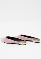 Missguided - Pearl heel pointed mules