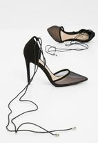 Missguided - Mesh ankle tie court shoes