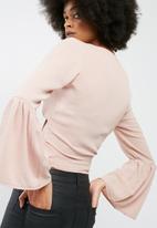 dailyfriday - Bell sleeve wrap top
