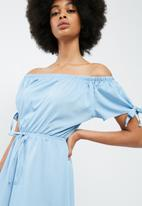 dailyfriday - Off the shoulder playsuit with sleeve ties
