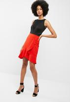dailyfriday - Ruffle wrap front skirt