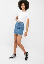 dailyfriday - Denim a line mini skirt
