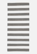 Sixth Floor - Grey broad stripe mini rug
