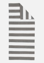 Sixth Floor - Grey broad stripe runner