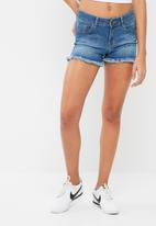 dailyfriday - Frayed hem denim short
