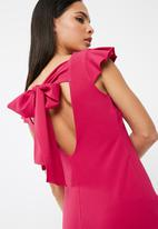 dailyfriday - Short bodycon with ruffle cap sleeve