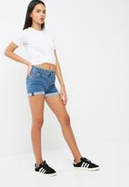 dailyfriday - Button through denim short