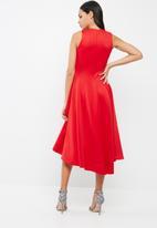 dailyfriday - Paneled scuba high low dress