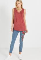 Cotton On - Lexi lace up tank top