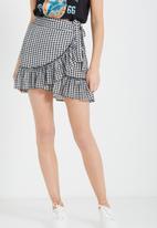 Cotton On - Woven wrap mini thea skirt
