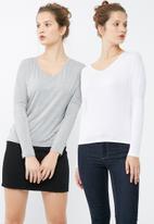 dailyfriday - V neck knit 2 pack