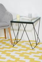 Eleven Past - Square geo side table