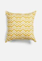 Grey Gardens - Mustard bunting cushion cover