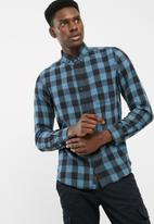 PRODUKT - Graham slim fit check shirt
