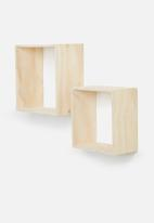 Sixth Floor - Square shelves set of 2