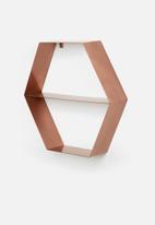 Sixth Floor - Metal hexagon shelf
