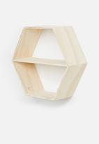 Sixth Floor - Hexagon shelf