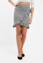 ONLY - Gingham frill skirt