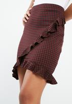 ONLY - Gingham frill skirt
