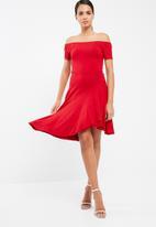 dailyfriday - Knit wrap back dress with assymetrical hem