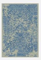 Sixth Floor - Vintage rug - dark blue & cream