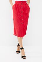 dailyfriday - Button through midi skirt