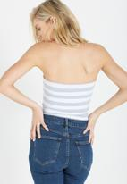 f144eba193 Mia strapless tube top - Coco stripe blue haze marle white Cotton On ...