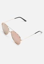 dailyfriday - Aviator metallic mirrored sunglasses