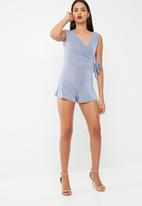 Missguided - Tie side slinky playsuit