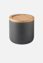 Humble & Mash - Stoneware canister small - charcoal grey