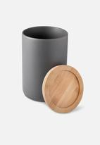 Humble & Mash - Stoneware canister tall - charcoal grey