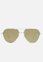 Missguided - Clean cut mirror lenses aviator sunglasses