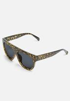 Missguided - Flat bar camo sunglasses