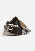 Missguided - Faux Leather Coin Trim Belt