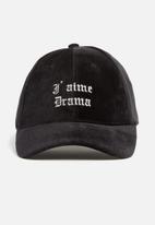 Missguided - Slogan detail velvet cap
