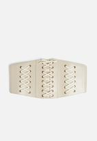 Missguided - Faux leather lace belt