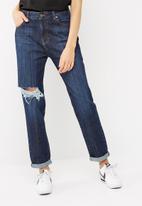 dailyfriday - Slim boyfriend mid rise jeans