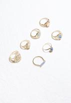 dailyfriday - 7 pack ring set