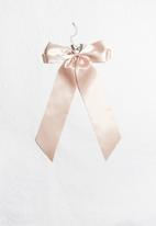dailyfriday - pink satin bow choker-pink