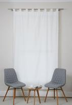 Sixth Floor - Pom pom tab top curtain